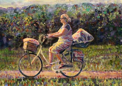 Mom Riding Her Bike