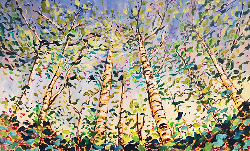Celebration of Birch Trees and Light