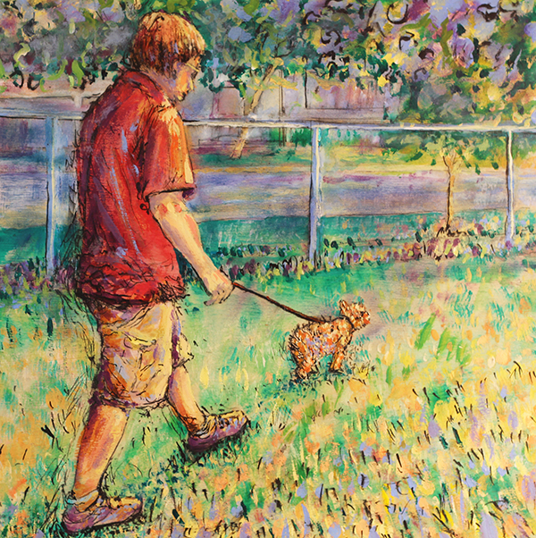 Chris Walking the Dog