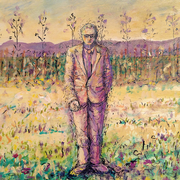 Man By His Apple Orchard