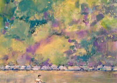 Rower in the Summer on the River